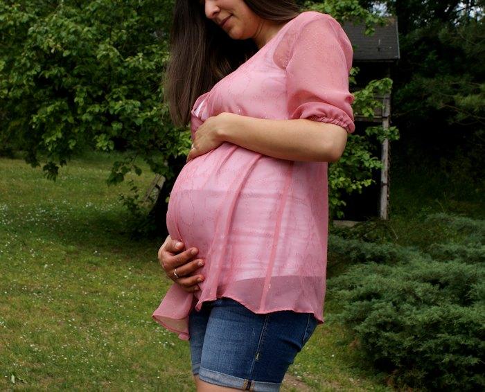 Tunique de future maman, d'après un patron Burda modifié