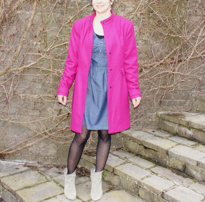 Manteau rose Burda