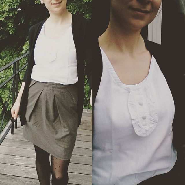 Me Made May 2016, jupe tulipe burda et débardeur à plastron dressing chic