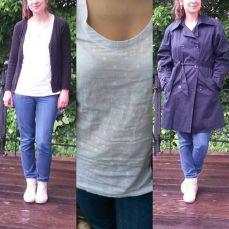 Me Made May 2016, jeans burda, débardeur Dressing Chic et trench coat burda