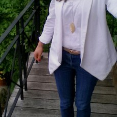 Me Made May 2016, Veste Burda, débardeur Dressing Chic et jeans burda