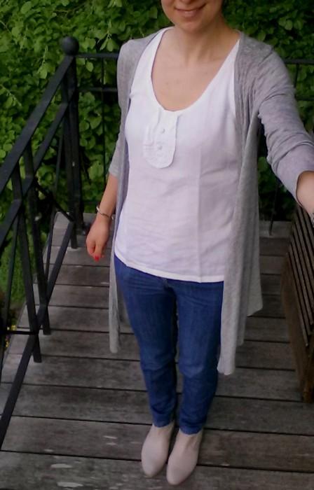 Me Made May 2016, jeans Burda et débardeur à plastron Dressing Chic