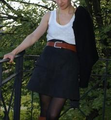 Me Made May, jupe anémone Deer and Doe, débardeur d'après le patron du débardeur Dressing Chic et veste H Dressing Chic