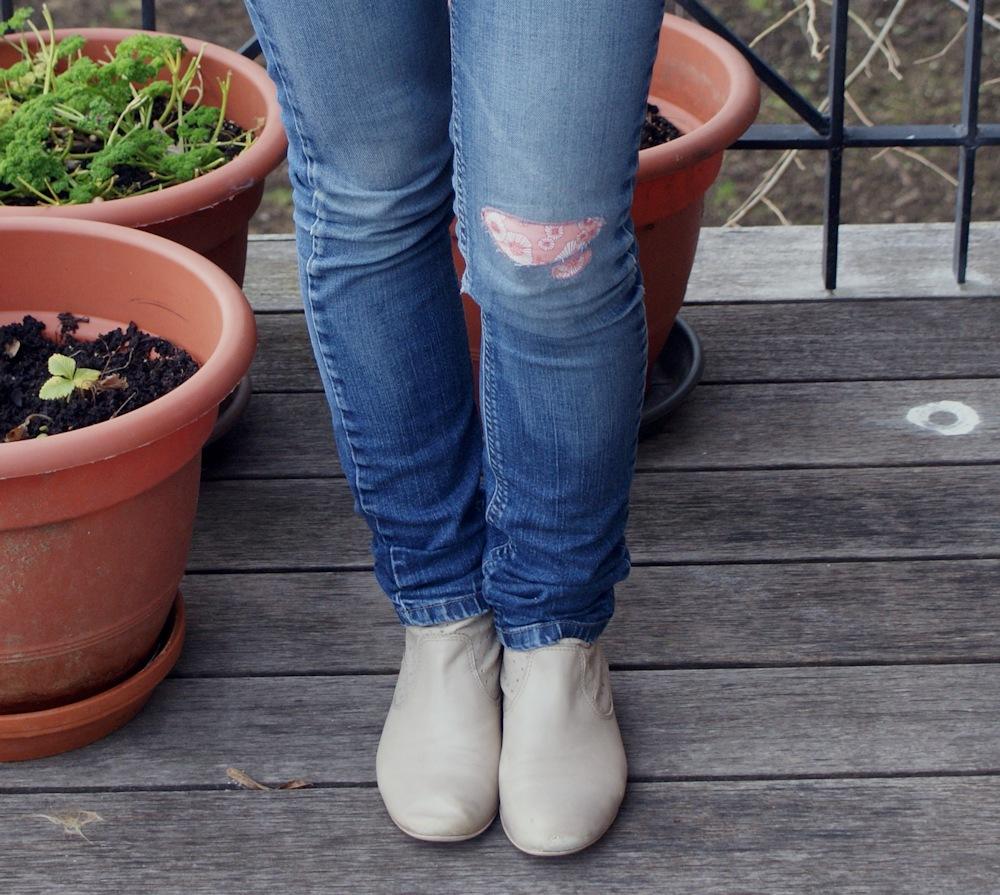 Rapiéçage de jean par Laissons Lucie Faire