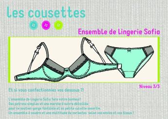 Ensemble de lingerie Sofia, un patron de couture Les Cousettes
