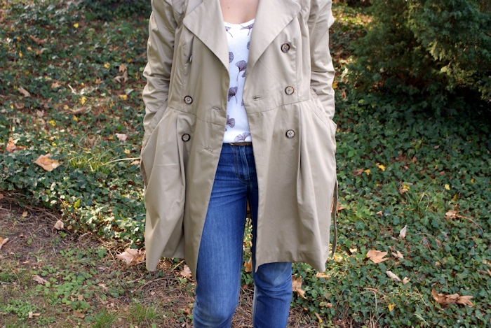 Trench-coat Luzerne Deer and Doe par Laissons Lucie Faire
