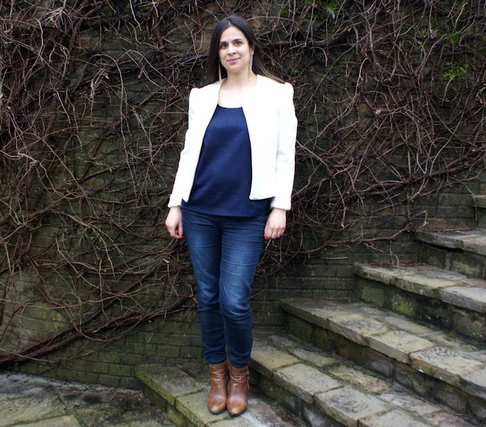Veste H Dressing Chic crème doublée par Laissons Lucie Faire