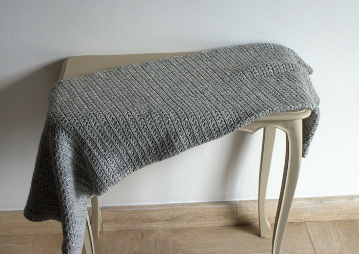 Baby blanket au point étoile par Laissons Lucie Faire
