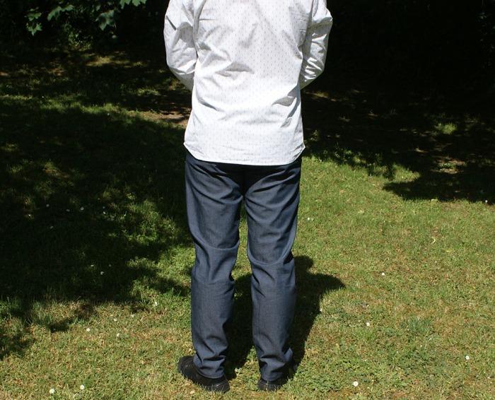 Chino Le Culotté en denim, un patron Les BG, par Laissons Lucie Faire