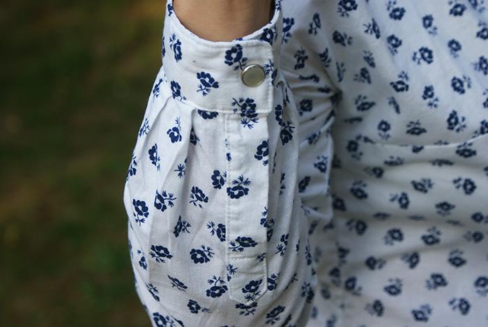 Chemise Mélilot Deer and Doe fleurs bleues par Laissons Lucie Faire