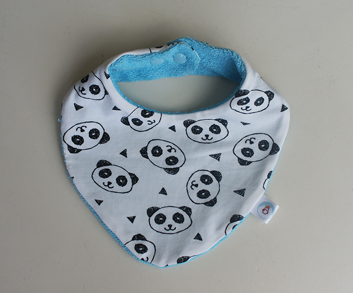 Bavoir bandana pandas Ptits Bricos