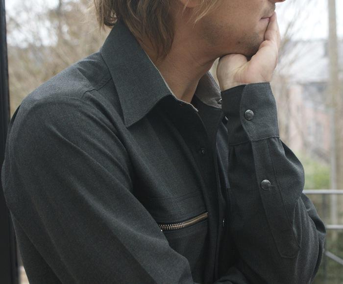 Chemise pour homme asymétrique par Laissons Lucie Faire