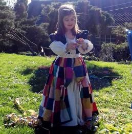 Projet récup : déguisement Princesse Arlequin et jupette de carnaval en patchwork par Laissons Lucie Faire