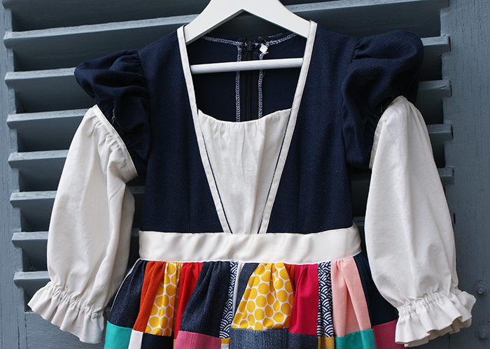 Projet récup : déguisement Princesse Arlequin et jupette de carnaval en patchwork