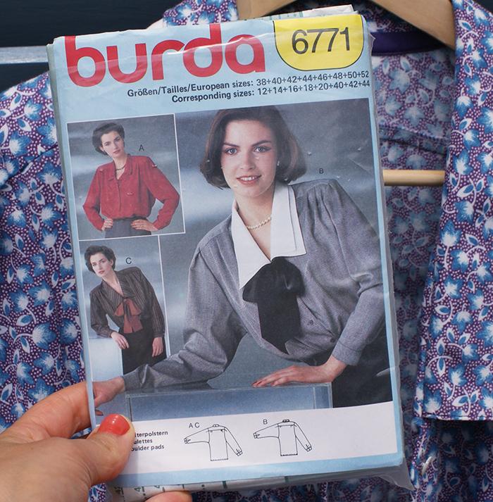 Blouse Burda vintage 80's par Laissons Lucie Faire