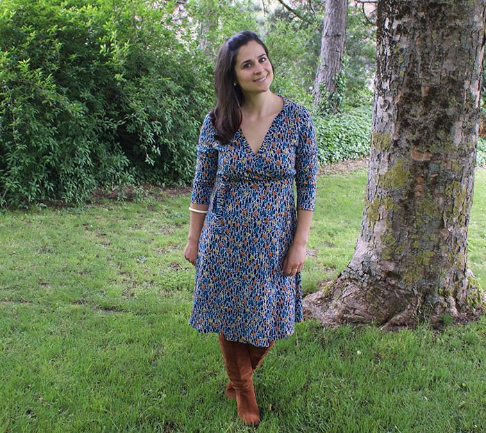 Robe portefeuille Burda par Laissons Lucie Faire